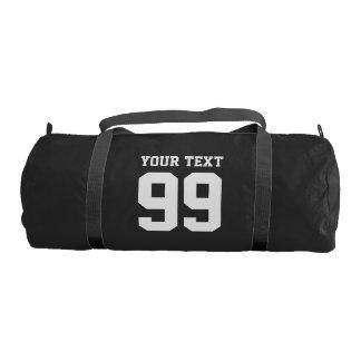 名前入りなスポーツのjersey数duffleの体育館のバッグ ジムバッグ
