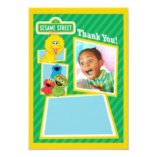 名前入りなセサミストリートの友達の誕生日 8.9 X 12.7 インビテーションカード