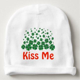 名前入りなセントパトリックの日は私にシャムロック接吻します ベビービーニー