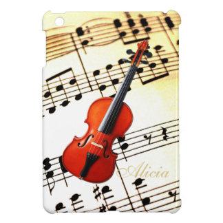名前入りなチェロまたはバイオリンの楽譜の場合 iPad MINIケース