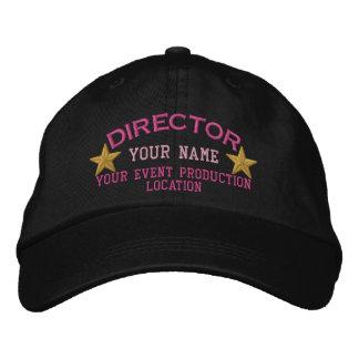 名前入りなディレクターは帽子の刺繍を主演します 刺繍入りキャップ