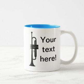 名前入りなトランペット ツートーンマグカップ