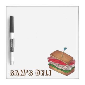 名前入りなトルコのクラブサンドイッチの店のダイナーのデリカテッセン ホワイトボード