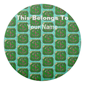 名前入りなドル記号の記号の円形の消す物 消しゴム