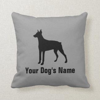 名前入りなドーベルマン犬のドーベルマン クッション