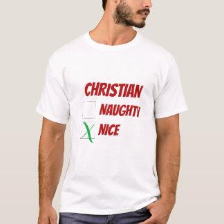名前入りなニースかニースのクリスマスのノベルティ Tシャツ
