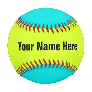 名前入りなネオンによって着色される野球 ベースボール