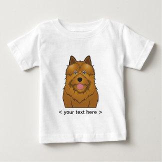 名前入りなノリッジテリアの漫画 ベビーTシャツ