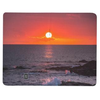 名前入りなハワイのビーチの海の熱帯日没 ポケットジャーナル