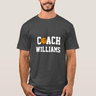 名前入りなバスケットボールのコーチ- Tシャツ