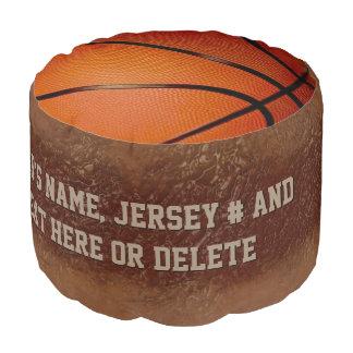 名前入りなバスケットボールのテーマ部屋、Poufの椅子 プーフ