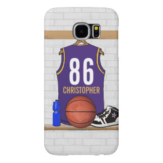 名前入りなバスケットボールジャージー(ページ) SAMSUNG GALAXY S6 ケース