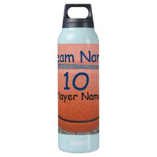 名前入りなバスケットボールチーム数水差し 断熱ウォーターボトル