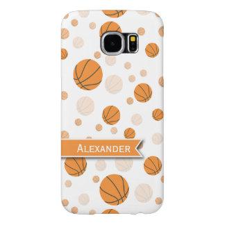 名前入りなバスケットボールパターン SAMSUNG GALAXY S6 ケース