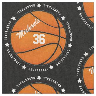 名前入りなバスケットボール数名前 ファブリック