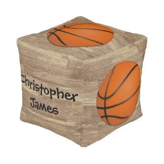 名前入りなバスケットボール木床 プーフ