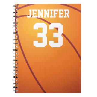 名前入りなバスケットボール ノートブック