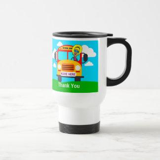 名前入りなバス運転手の感謝のギフトのマグ トラベルマグ