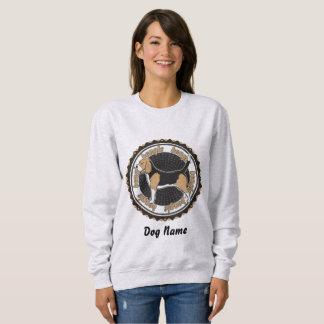名前入りなバセットハウンドの愛犬家 スウェットシャツ