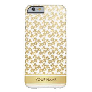 名前入りなバラの王室ので魅力的なホワイトゴールドの箱 BARELY THERE iPhone 6 ケース