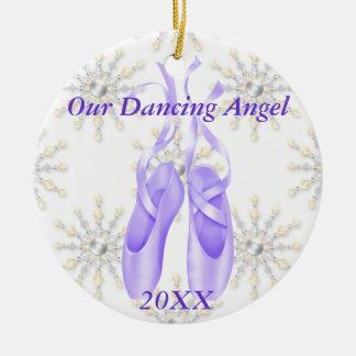 名前入りなバレエまたは踊りのオーナメント2012年 セラミックオーナメント