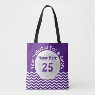 名前入りなバレーボールのトートバックあなたの色、文字 トートバッグ