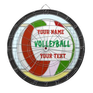 名前入りなバレーボールの名前および文字 ダーツボード