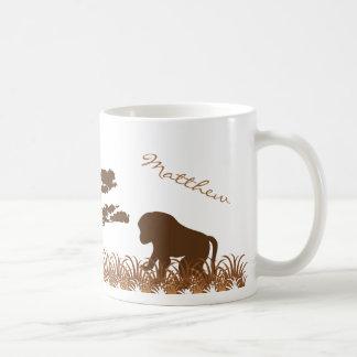 名前入りなヒヒのサファリのマグ コーヒーマグカップ