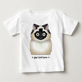 名前入りなヒマラヤ猫(シール点の) ベビーTシャツ