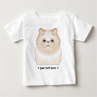 名前入りなヒマラヤ猫(炎かクリーム) ベビーTシャツ