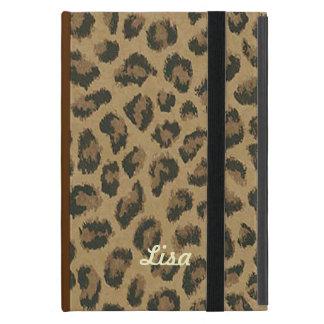 名前入りなヒョウの皮のiPad Miniケース iPad Mini ケース