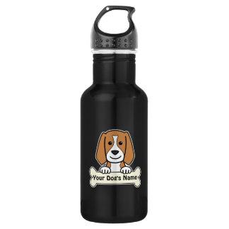 名前入りなビーグル犬 ウォーターボトル