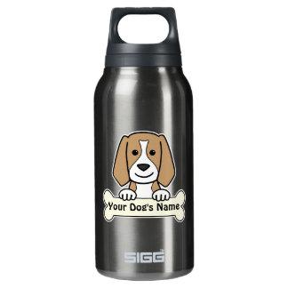名前入りなビーグル犬 断熱ウォーターボトル