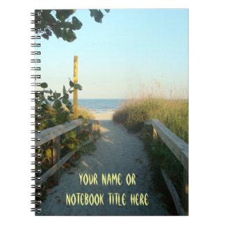 名前入りなビーチのアクセス ノートブック