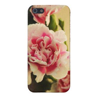 名前入りなピンクのカーネーションおよびあなたの名前 iPhone 5 ケース