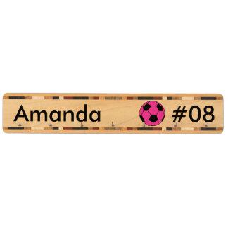 名前入りなピンクのサッカーボールのカスタムの鍵の棚 キーラック