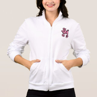 名前入りなピンクのプードルのジャケット