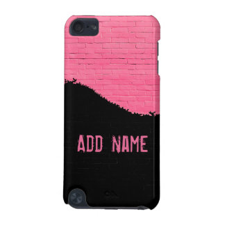 名前入りなピンクのレンガ壁 iPod TOUCH 5G ケース