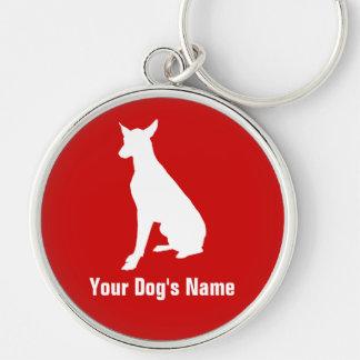 名前入りなファラオの猟犬のファラオの・のハウンド キーホルダー