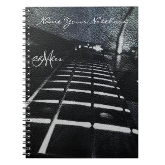 名前入りなブラックバスのギター音楽ノート ノートブック