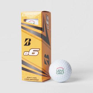 名前入りなブリヂストンe6愛ゴルフ・ボール ゴルフボール