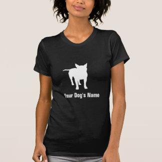 名前入りなブルテリアのブルの・のテリア Tシャツ