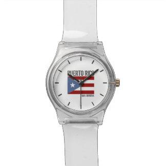 名前入りなプエルトリコBoricua 腕時計
