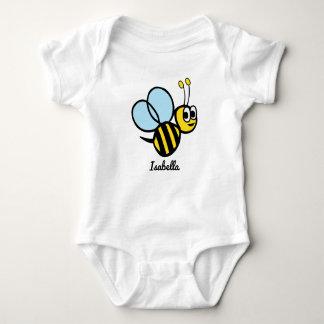 名前入りなベビーの蜂のかわいく黄色い《昆虫》マルハナバチ ベビーボディスーツ