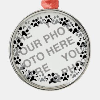 名前入りなペット写真 メタルオーナメント