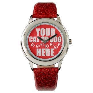 名前入りなペット写真 腕時計