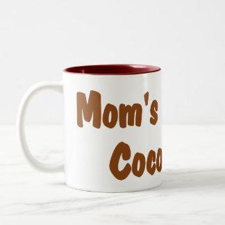 名前入りなペパーミントのお母さんのための熱いココアマグ ツートーンマグカップ