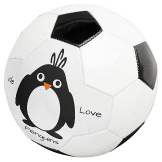 名前入りなペンギンのデザイン サッカーボール