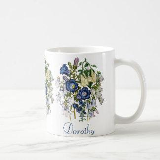 名前入りなホタルブクロ コーヒーマグカップ