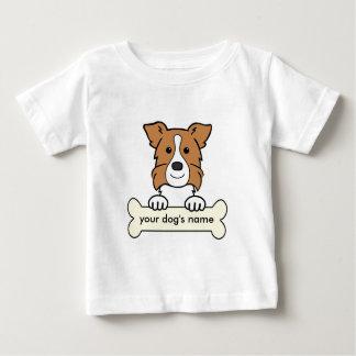 名前入りなボーダーコリー ベビーTシャツ